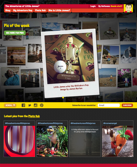 The Adventures of Little James - Web development, CMS, responsive, e-commerce, social media